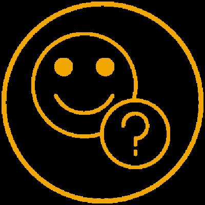 Smile und Fragezeichen